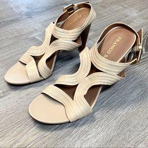 Franco Sarto Adonis Ivory Strappy Slingback Sandal